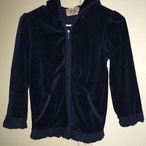 Juicy Couture Navy Medium Crop Zip Up Jacket